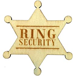 Ring Security Badge Breastpin for Wedding Rustic Wooden Ring Bearer Gift for Boys Wedding Accessories
