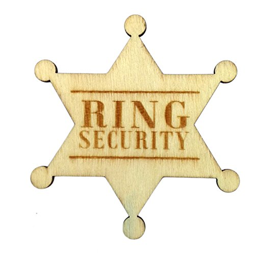 - Ring Security Badge Breastpin for Wedding Rustic Wooden Ring Bearer Gift for Boys Wedding Accessories