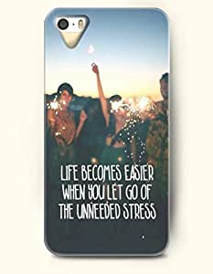 iPhone 5 5S Case OOFIT Phone Hard Case ** NEW ** Case with Design Life Becomes Easier When You Let Go Of The Unneeded Stress- Fireworks - Case for Apple iPhone 5/5s