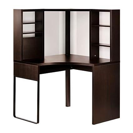 IKEA esquina estación de trabajo, marrón 22210.141423.104: Amazon ...