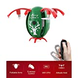 BTG JJRC H66 Christmas Egg-shaped RC Drone With Gravity Sensing Remote Control, WIFI FPV, Altitude Hold, 720P HD Camera, Headless Mode, One-key Unfold (GREEN)