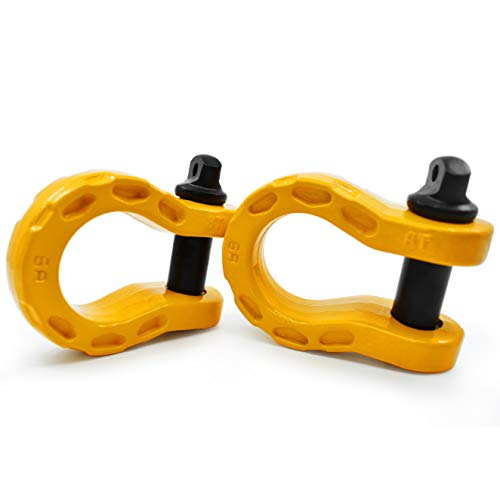 """GearAmerica Mega Duty D Ring Shackles Yellow (2 PK) 
