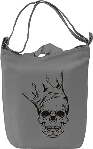 Crowned skull Borsa Giornaliera Canvas Canvas Day Bag| 100% Premium Cotton Canvas| DTG Printing|