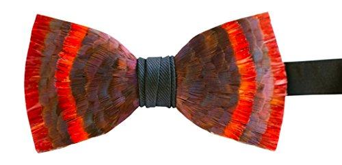 Brackish Feather Pre-tied Bow tie - Etna (166-BRK) by Brackish