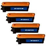 Brother TN210 Remanufactured Compatible Toner Cartridges – Full Color Set (B,C,Y,M), Office Central