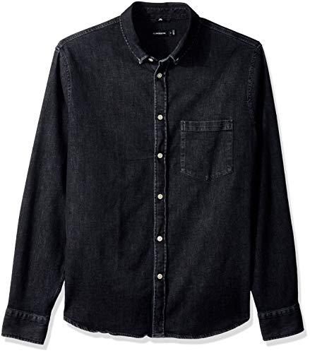 J.Lindeberg Men's Stretch Denim Shirt, Dark Grey, Medium