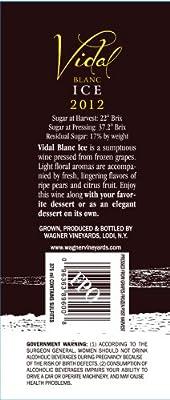 2012 Wagner Vineyards Vidal Blanc Ice 375 mL White Wine