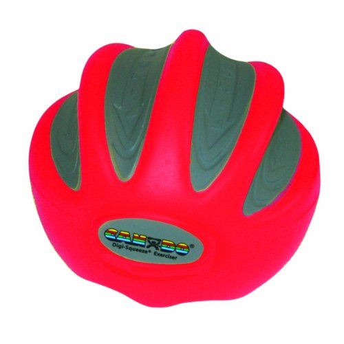 CanDo Digi-Squeeze Hand Exerciser, Red: Light Resistance, La