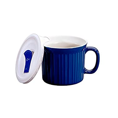 Corningware 20-Ounce Oven Safe Meal Mug with Vented Lid, Blueberry
