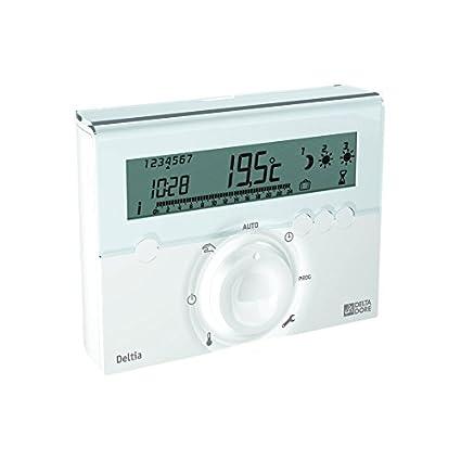 Delta Dore DEL6050412 - Programador para calefacción eléctrica (mediante cable piloto, 3 zonas)