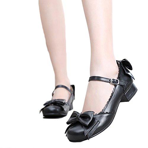 Japanese Sweet Lolita Block Low Heel Round Toe Mary Jane Shoes