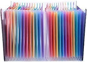 Amaza Clasificadores Carpetas de Acordeón, Colores Archivador Acordeon 24 Bolsillos, Separadores Archivador A4, Archivadores Escolares (Multicolor): Amazon.es: Oficina y papelería