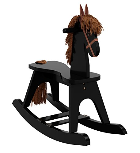 Rocking Horse Nursery - Storkcraft Wooden Rocking Horse, Black