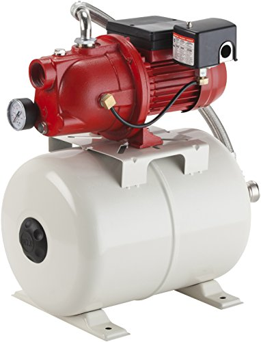 Red Lion 97080503 Shallow Well Jet Pump and Tank Package, Cast Iron Pump with pressure Tank, 5.8 gallon -