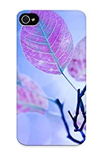 For Iphone Case, High Quality Purple Leaves On A Branch For Iphone 4/4s Cover Cases / Nice Case For Lovers' Gifts
