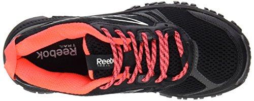 Reebok Ridgerider Trail, Zapatillas de Running Para Mujer Negro / Gris / Rojo (Black / Grvl / Neon Cherry / Shrk / Steel / Matte)