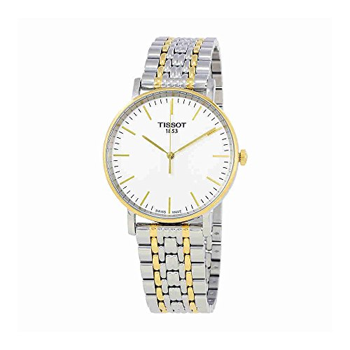 2 Tone White Dial (Tissot T-Classic White Dial Two Tone Stainless Steel Men's Watch T1094102203100)
