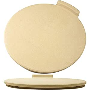 """The Ultimate Pizza Stone for Oven & Grill. 16"""" Round Baking Stone with Exclusive ThermaShock Protection & Core Convection Technology for the Perfect Crispy Crust on Pizzas & Bread. No-Spill Stopper"""