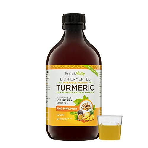 (Bio-Fermented Turmeric Curcumin Supplement - Probiotics and Enzymes Pineapple Passion)