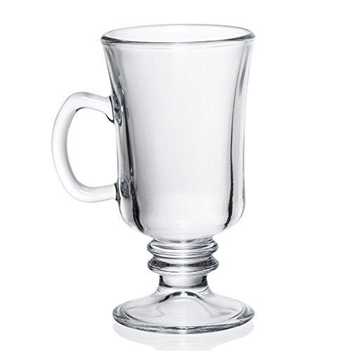 D&V After Diner Venezia Irish Coffee Mug - - Glass Pedestal Coffee Mugs