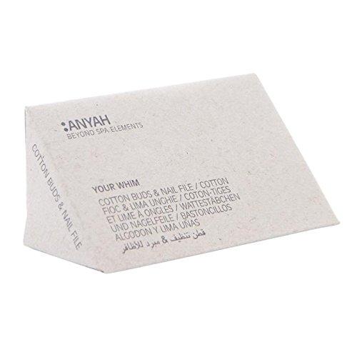 Anyah – 3 Wattestäbchen und Nagelfeile, anyah (450 Kits)