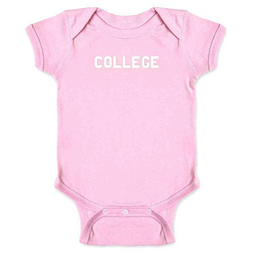 (College Classic Design Halloween Costume 70s Pink 6M Infant)