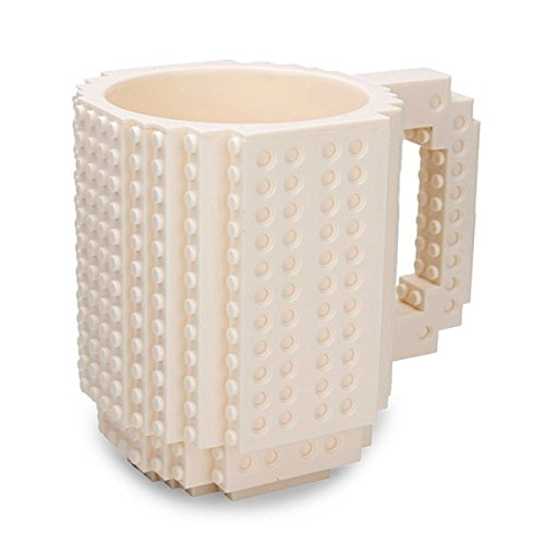 Mug Coffee - Diy Puzzle Block Toy Brick Mug Coffee Cup White 350ml - Prescription Go Holder Monogram Handle Makes Mother Enamel Steel Filter for $<!--$36.99-->