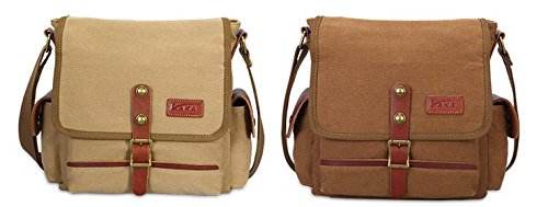 Otomoll Bag Crossbody Satchel Retro Bangalor Canvas Coffee Shoulder Diagonal Men Business Korean Casual FAnFr1xfq