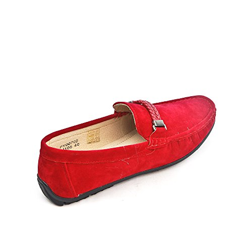 Mocassin Rouge Maddox Homme Design Uomo 4gPBR