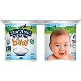 Stonyfield Organic, YoBaby Plain Whole Milk Yogurt, 4 oz, 6 Count