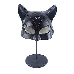 Catwoman Máscara Superhéroe Batman Cosplay Negro Media Cara ...