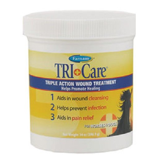 - Farnam 14 oz Tri-Care Triple Action Wound Treatment Helps Promote HealingFor Horses and Dogs
