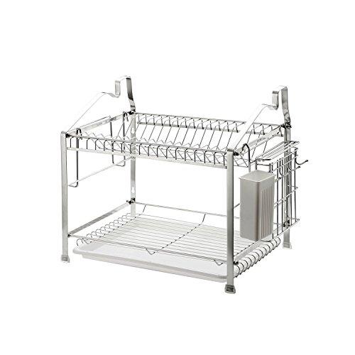 h Drainer Kitchen Storage Organization, Stainless Steel, GEYUEYA Home (2-Tier) ()