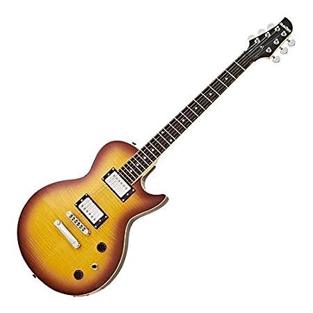 Guitarra Eléctrica SubZero Revolution Flamed Tobacco: Amazon.es: Instrumentos musicales
