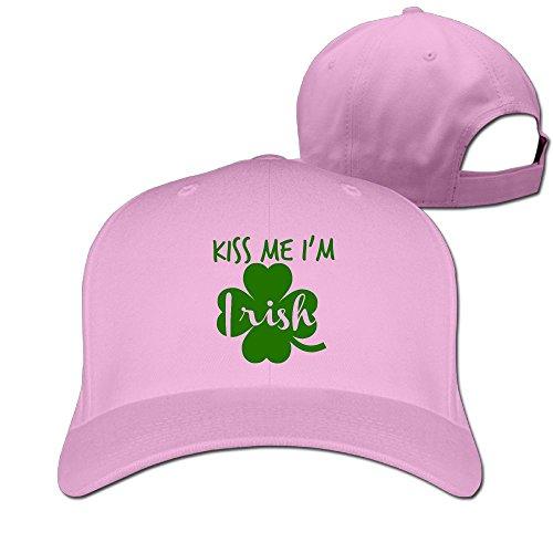 (DMN Unisex Kiss Me I'm Irish Baseball Hip-hop Cap Vintage Adjustable Hats for Women and Men Pink,One Size)