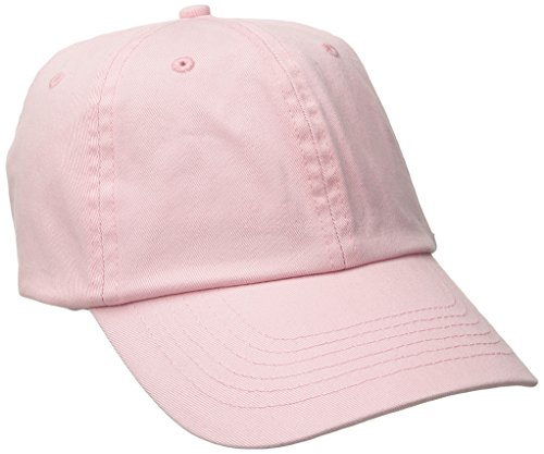Dorfman Pacific Women's Washed Twill Cap with Precurve, Light Pink, One Size ()