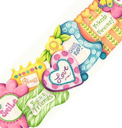 Friends Pictures - Girls Wall Paper Border