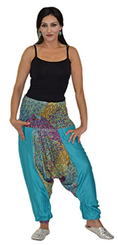 Hippie Moroccan Harem Gypsy Jumpsuit Yoga Belly Alibaba Pants Trousers Small to Large by Moroccan Caftans