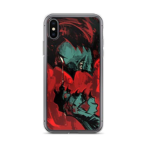 iPhone X/XS Case Anti-Scratch Japanese Comic Transparent Cases Cover A Demon with A Human Heart Anime & Manga Graphic Novels Crystal -