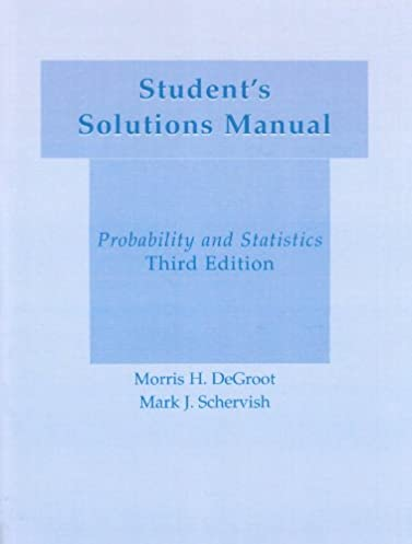 student s solution manual probability statistics morris h rh amazon com Instructor Manual Template Textbook Instructor Manuals