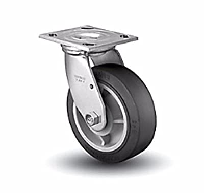 "Colson Swivel Plate Caster with Black Performa Rubber 6"" x 2"" Wheel 4-6109-45..."