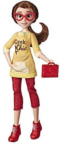 Amazon Com Disney Princess Comfy Squad Belle Ralph Breaks The Internet Movie Doll With Comfy Clothes And Accessories Toys Games