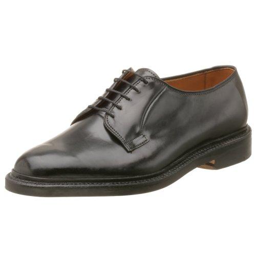 Genuine Shell Cordovan - Allen Edmonds Men's Leeds Genuine Shell Cordovan Plain Toe Oxford,Black,7 E US