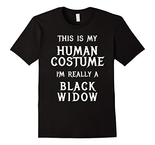 Costumes Widow Teen Black (Mens Funny Black Widow Spider Costume Halloween Shirt Large)