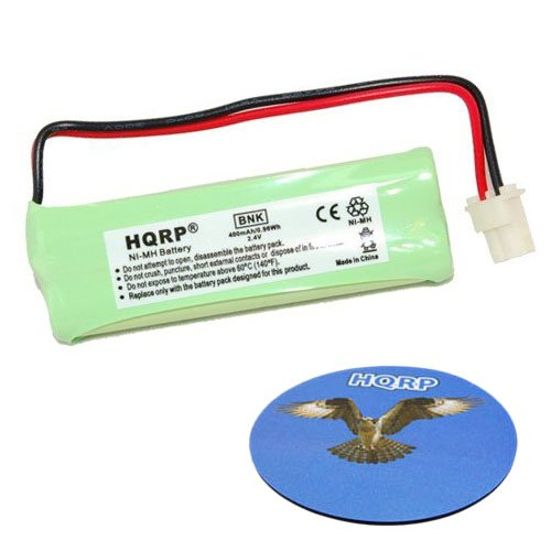 HQRP Cordless Phone Battery compatible with Vtech BT183482, BT283482, 89-1348-01, RadioShack 43-085, 43-086, 43-395 Replacement + HQRP Coaster