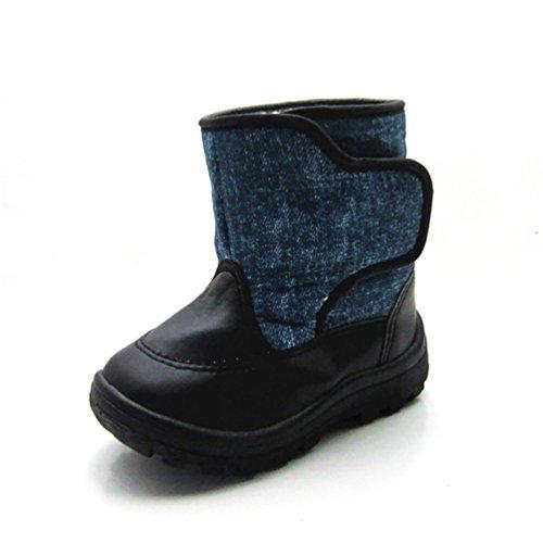D.LIN Boys & Girls Alaska II Waterproof Snow Boots