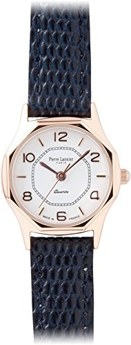PIERRE LANNIER watch octagon watch pink gold / Lizard embossed dark blue P043904 L64 Ladies