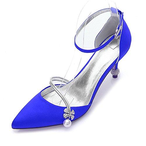 Basculanti Tacco A yc Blue Scarpe Punta 17767 Da 29 Sera Cono Chiusa Basic Estate L Donna Sposa E 0vwPBPxd