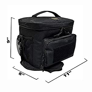 HSD Tactical Lunch Bag – Insulated Cooler, Lunch Box with MOLLE/PALS Webbing, Adjustable Padded Shoulder Strap, for Adults and Kids