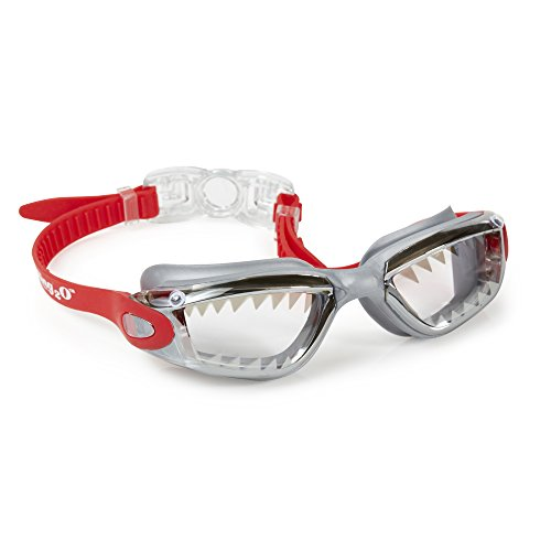 """Bling2o Goggles Kids Swim Goggles - """"Shark Tooth"""" Kids Swimming Goggles with Anti Fog UV Protection and Custom Kid Goggles Hard - Boys For Googles"""